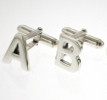 View Alphabet Silver Cufflinks in detail