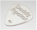 View Daddy Rocks Sterling Silver Plectrum  in detail