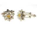 View Silver Daisy Cufflinks in detail