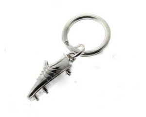 Silver Football Boot Keyring