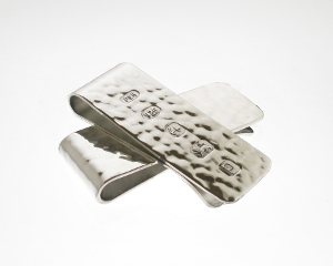 Silver Hammered Money Clip