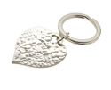 View Personalised Silver Heart Keyring in detail