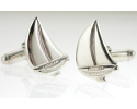 View Sailing Cufflinks in Sterling Silver in detail