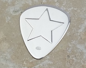 Personalised Silver Star Plectrum