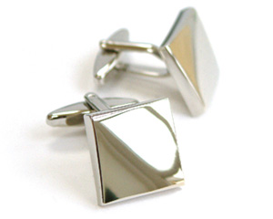 Silver Plated Square Cufflinks