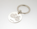 View Round Silver Bicycle Keyring in detail