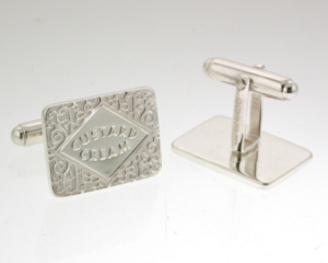 Custard Cream Cufflinks