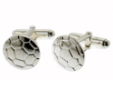 View Silver Football Cufflinks in detail