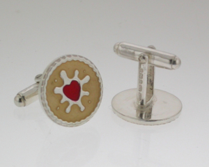 Jammy Dodger Cufflinks