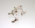 View Silver Welly cufflinks in detail